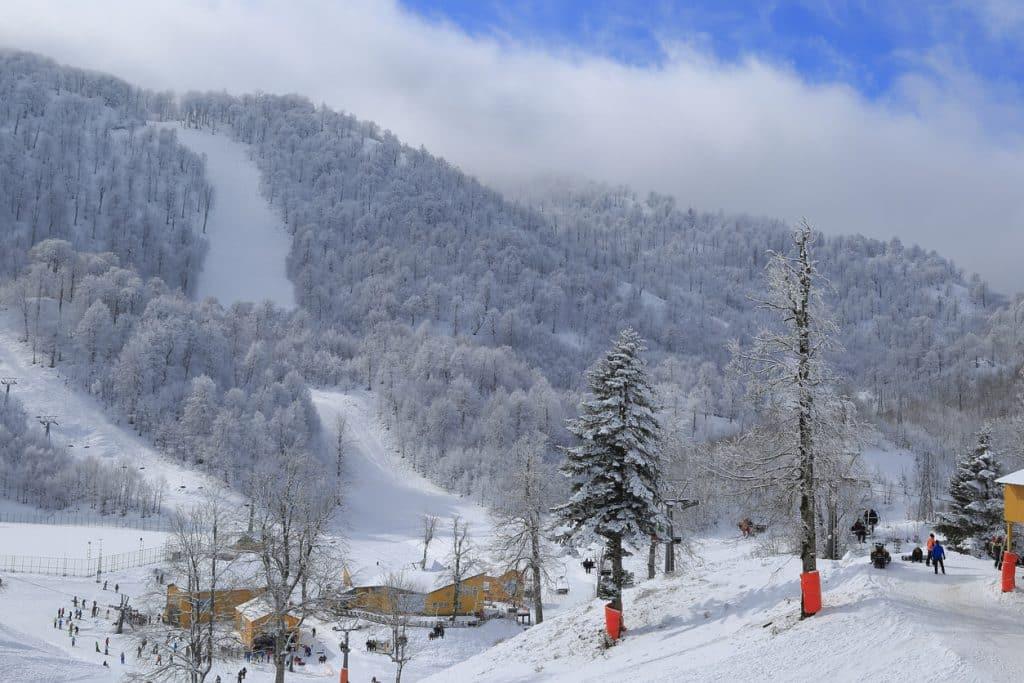 A stunning view of the Kocaeli Kartepe Ski Center
