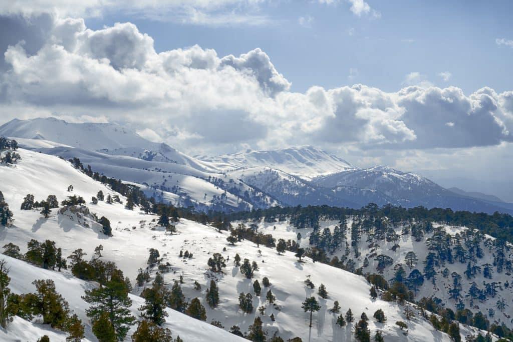 Mountain view from the Nikfer-Bozdağ Ski Center in Denizli
