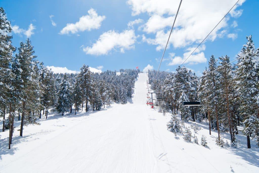 The ski slope of Sarıkamış Ski Center in Kars