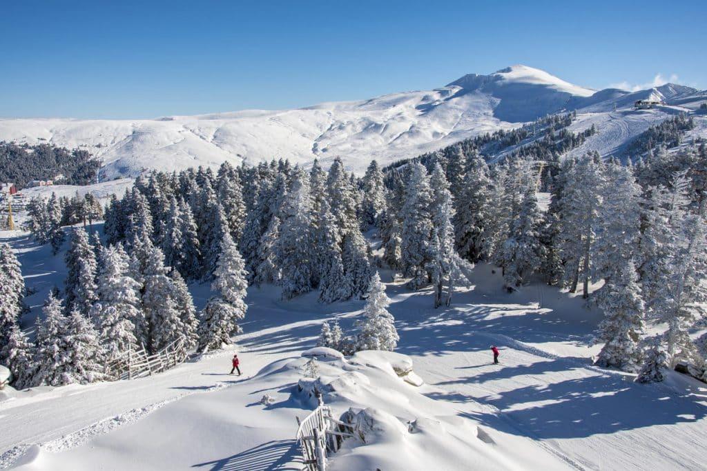 A view from world famous ski center of Bursa, the Uludağ Ski Center
