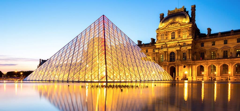 The Louvre, one of the world's most visited museums