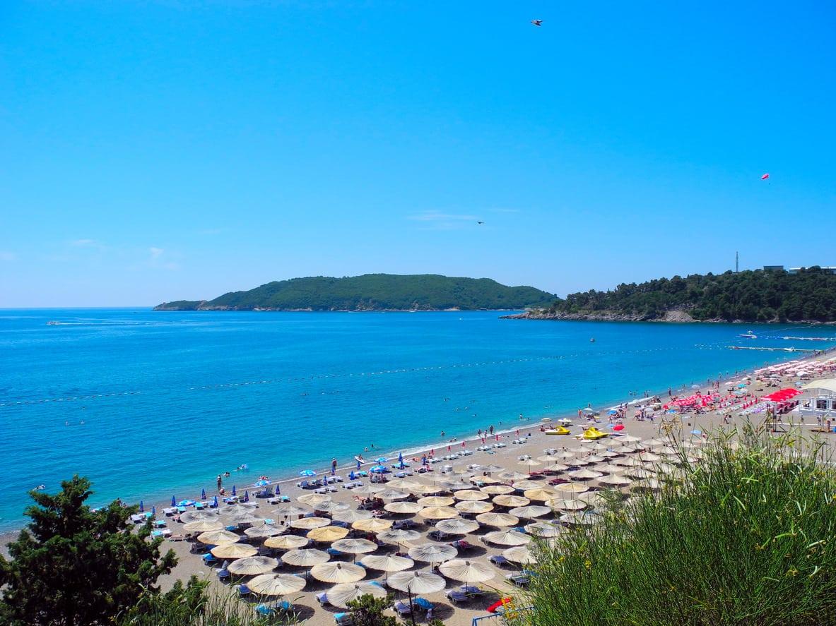 A view from Bečići Beach