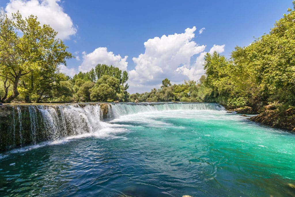 General view of the Manavgat waterfalls