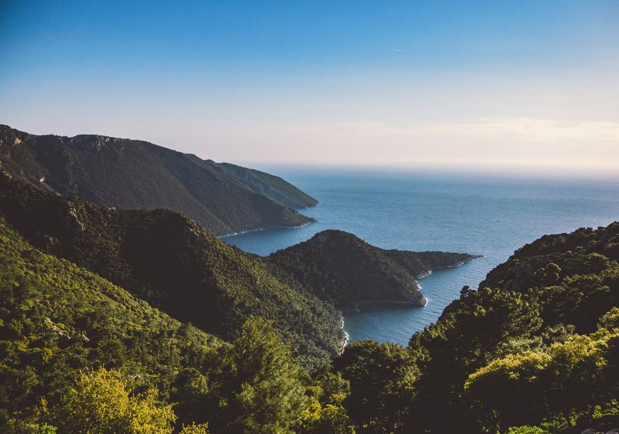 Lycian way view from Yediburunlar