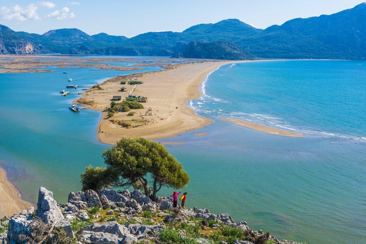 Iztuzu trees, rocks and sea