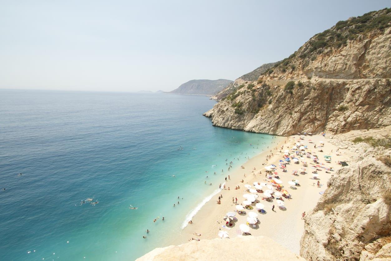 Kaputas beach, sea, beach, umbrellas