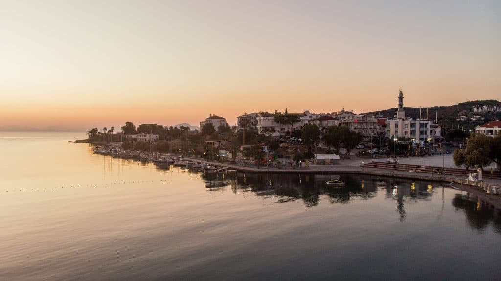 sunrise in Datça port