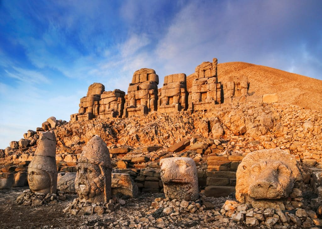 Ancient statues on the top of Mount Nemrut