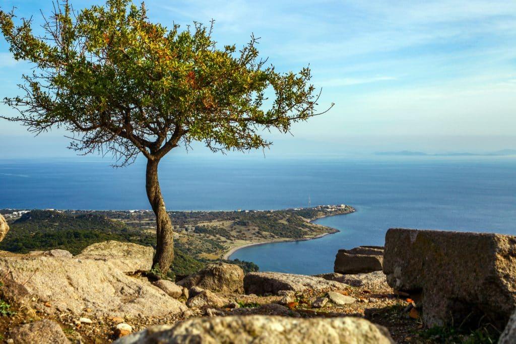 Kadırga Bay from the top of Behramkale